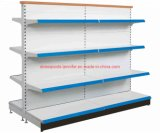 Supermarket Shelf Store Gondola Display Rack with Perforated Back Panels