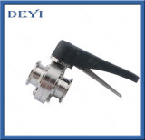 "1.5"" Stainless Steel Food Grade Tri-Clmap Sanitary Butterfly Valve"