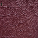 Northern America PVC PU Synthetic Microfiber Leather for Sofa (HS-QF10)