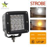 5000 Lumens Wholesale LED Work Light, 2 Colors 3000K 6500K Strobe Burst Flashing 4inch 72W LED Work Light 12V for Offroad