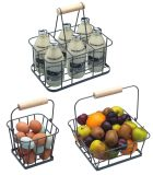Multifunctional Metal Fruit Basket with Hand Shank