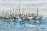 Wholesale Handmade Modern Decorative Canvas Wall Art Paintings Boat and Ship