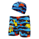 Kids Baby Boys Elastic Swimwear with Cap for 2-6 Years Childs Swimming Trunks Beach Short Briefs Summer Swimsuit Boxer Shorts