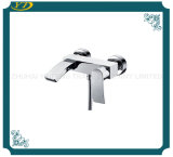 Fasihonable Double Holes Wall Mounted Zinc Handle Bathroom Faucet