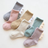 Coral Fleece Baby Indoor Socks Danisaur Pattern Fuzzy Anti Slip Socks