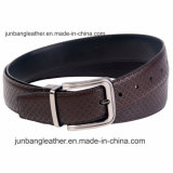 2018 Latest Men's Fashion Leather Embossing Belt with Reversible Pin Buckle