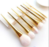 7PCS/Set Gold PRO Makeup Powder Foundation Eyebrow Brush