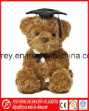 Brown Color Plush and Stuffed Teddy Bear for Graduation