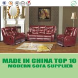Modern Home Furniture 3 Seats Recliner Leather Sofa