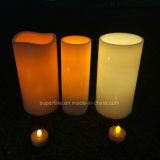 Indoor and Outdoor Use Waterproof Big Plastic Electronic LED Twinkling Candle Lighting with Soft Flickering