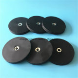 Neodymium Rubber Coated Cup Magnet with M4 M5 M6 M8 M10 Hole for Car Roof