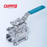 1, 2, 4, 6, 8 Inch 1000 Wog Psi Threaded Stainless Steel Motorized Electric Floating 3PC Ball Valve