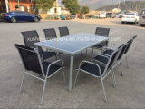 Steel 9PCS Moder Furniture Set by Table+Chairs