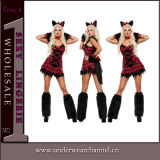 Fancy Dress Adult Sexy Halloween Party Wolf Mascot Costume (TDD80778)
