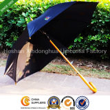 Wooden Straight Umbrellas with Printed Logos for Promotion (SU-0023W)