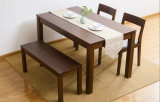 Oak Wood Dining Set One Table with Two Chairs and One Bench (M-X1094)