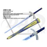 "45.28"" Blue Painting Wood Handle Sword: 4sm12-455"