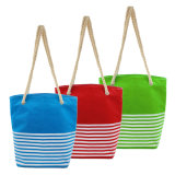 Promotional Food Delivery Thermal Insulated Large Cooler Tote Beach Bag with Thick Cotton Rope