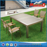 Extendable Aluminum Table with Chairs
