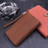 High Quality Long Money Purse Mens Leather Wallet