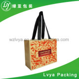 Custom Logo Printed Fast Delivery Food Grade Brown Kraft Paper Bags with Handle