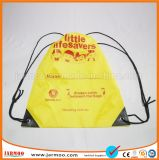 Cheap Yellow Simple Design Waterproof Drawstring Bag