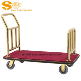304# Stainless Steel Luggage Cart/Trolley for Hotel Lobby (SITTY 91.2008A)