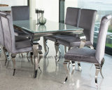 Modern Dining Room Furniture / Metal Contemporary Home Furniture for Dining Room / Stainless Steel Table Chair Banquet Restaurant Wedding Event Furniture