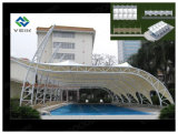 PTFE Tensile Fabric Membrane Structure for Swimming Pool Canopy