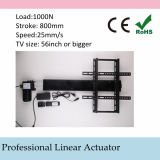 Automatic TV Lift Stands 110-240V AC Input 800mm 32inch Stroke Linear Actuator Full Set with Remote and Controller and Mounting Parts