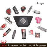 Wholesale Luggage Backpack Bag Brand Logo Label Plate Design Custom Embossed Bag Metal Tag Metal Logo