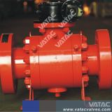 Gear Box Flanged Split Trunnion Mounted Ball Valve