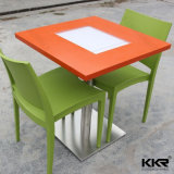 Kingkonree Modern Square Solid Surface Marble Stone Banquet Table
