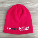 Winter Knit Beanie Hat with OEM Screen Printed Sport Logo or Woven Embroidery Patches