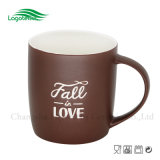 12oz Fall-in-Love Embossed Ceramic Mug