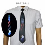 EL Light up Ties Sound and Music Activated Novelty Blinking Glow Neck Tie Novelty Neckties for Christmas Rave Party