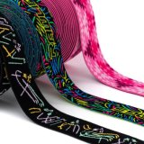 Custom Design Jacquard Nylon / Polyester Elastic Webbing Tape for Garment Accessories
