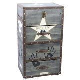 Cheap Distressed Antique Furniture 4 Drawers Wooden Cabinet