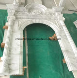 White Jade/Granite/Marble Europe Fireplace for House Heating Decoration
