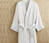 100% Cotton Hotel Terry Velour Bathrobe Wholesale Price