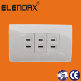 American 2 Flat Pin Wall Socket (A2305)