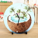Factory Supply Sublimation Glass Clock for Perfect Photo Gift