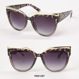 New Fashion Cateye Sunglasses with Metal Brow