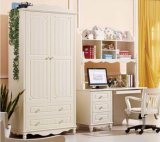 White Color European Style Children Wardrobe Made by Solid Wood (M-X1162)