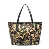 China Factory Price Fashion Flowers Printing Leather Tote Bags for Women