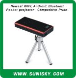 Newest Bluetooth + WiFi + Android Mini Pocket Projector (SMP7052)