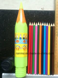 12 PCS Color Pencil in Plastic Rocket Tube Holder
