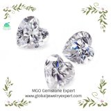 6.5mm 1CT 2CT 3CT 4CT Vvs Def Hearts Heart and Arrows Shape White/Yellow/Champagne/Green/Blue/Gray Loose Stone Heart Moissanite Diamonds
