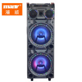 Trolley Dual 12 Inch Speaker with Tws Bluetooth Speaker SD FM Rec Funtion Disco Light
