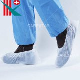 Disposable Waterproof Plastic CPE Shoe Cover, Made by Machine